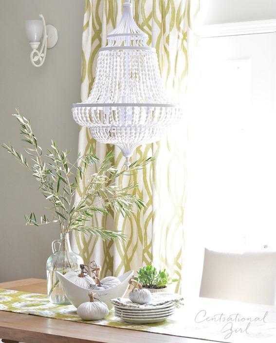 maarid white beaded chandelier