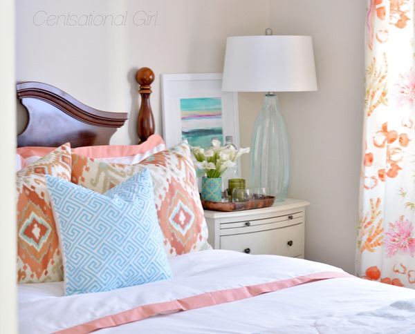 pillows on guest bed