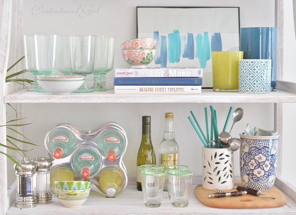shelf styling bakers rack