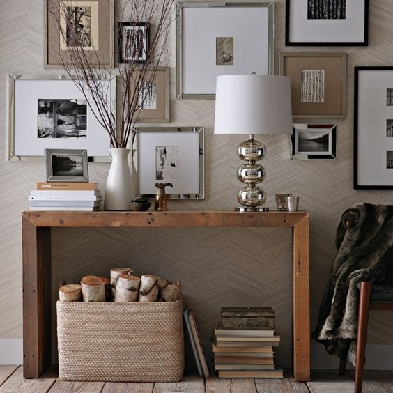 No fail objects for styling a console table centsational for Console table decor ideas