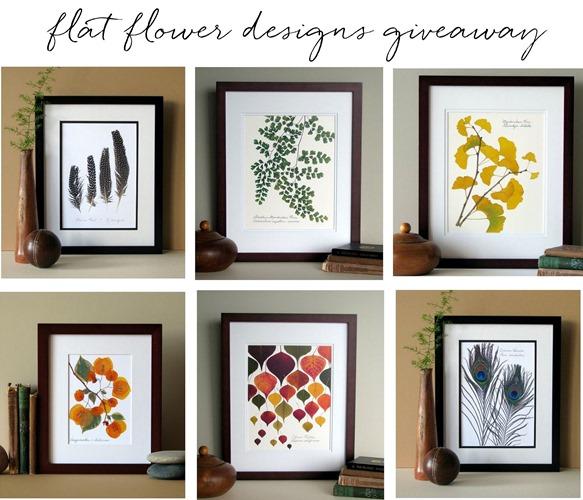 flat flower designs giveaway