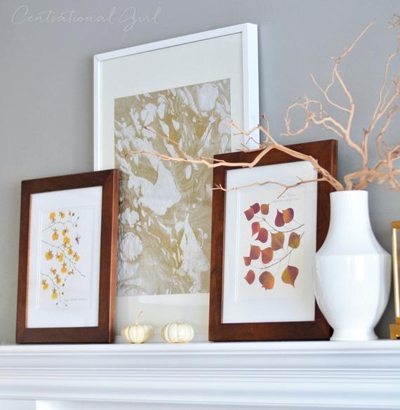 flat flower leaf prints