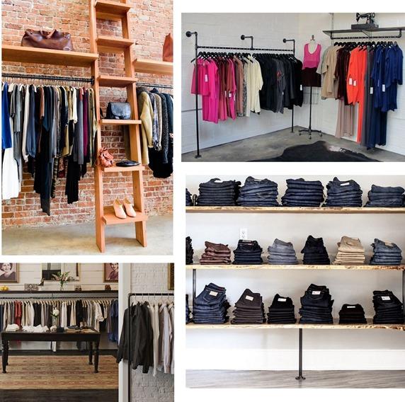 garment racks shelves