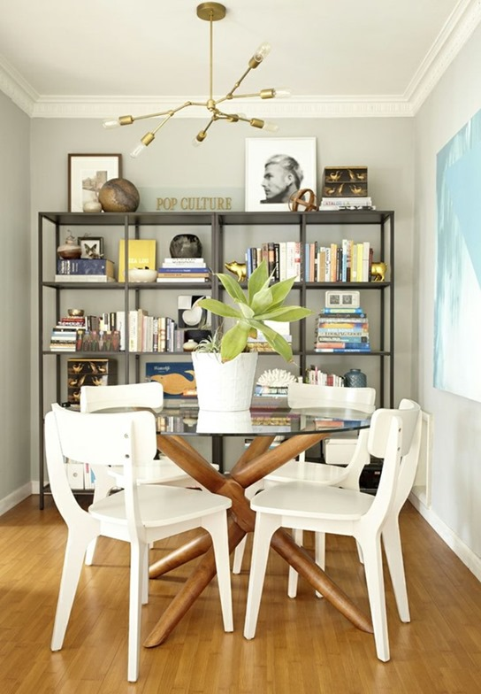 modern table white chairs