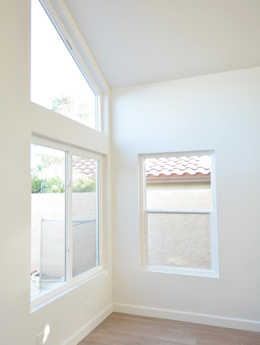 new white living room windows