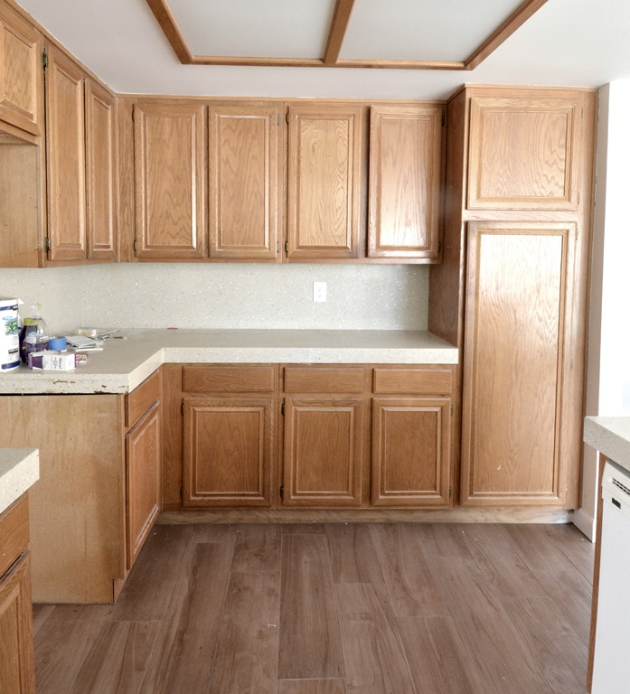 Old Kitchen Cabinet: Centsational Style