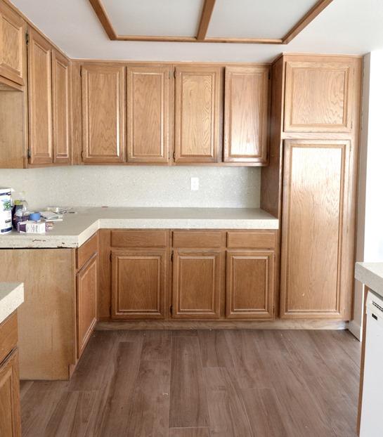 old oak kitchen cabinets