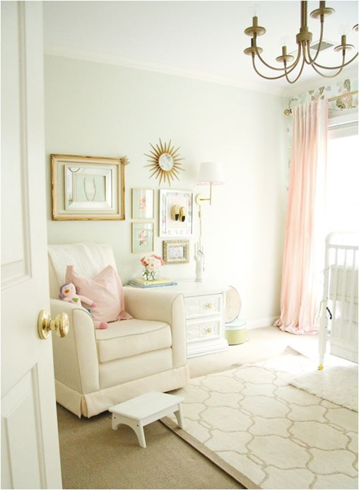Vintage gold nursery : Baby girl nursery pink and gold