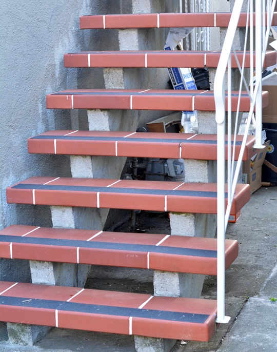 repainted steps new non slip treads