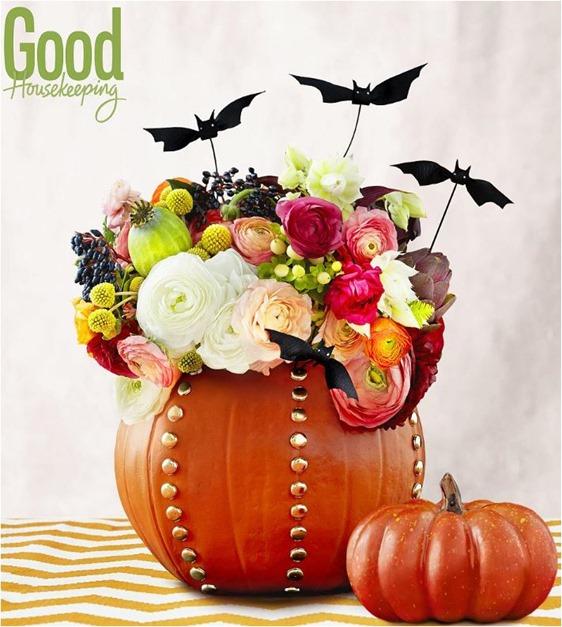 studded pumpkin vase