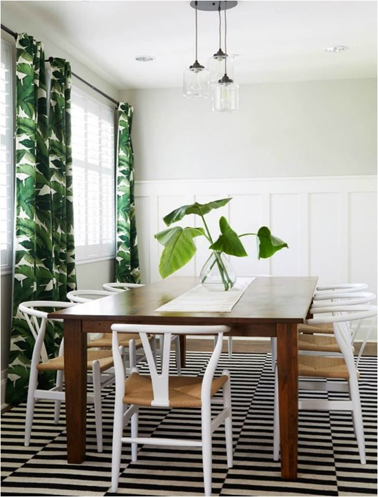 trad table wishbone chairs