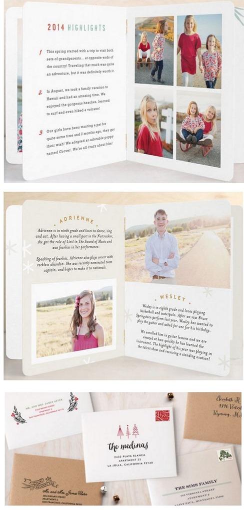 booklette cards preprinted envelopes