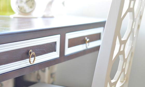 brass ring pulls on drawer