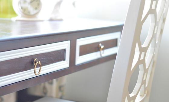 brass ring pulls on drawer