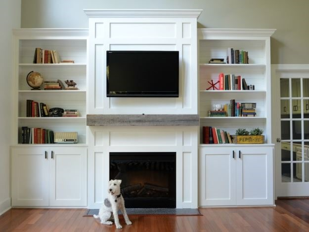 DIY Built in Bookcases 625 x 471