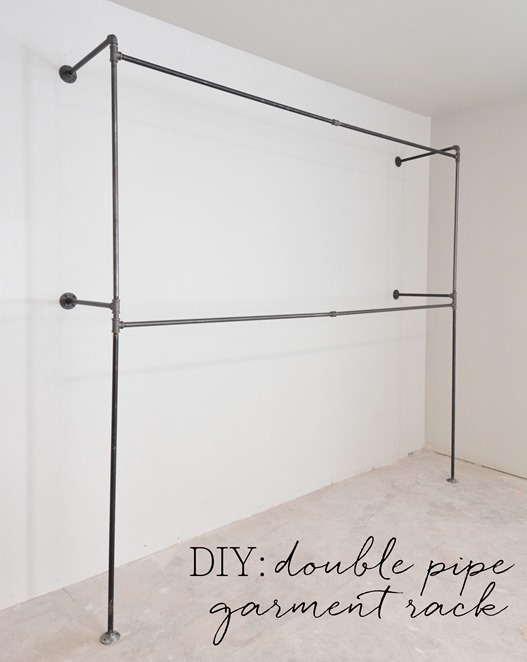 diy double pipe garment rack - Clothes Hanger Rack