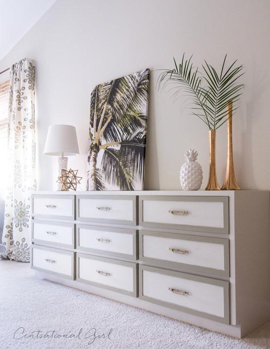 dresser with lattice box trim