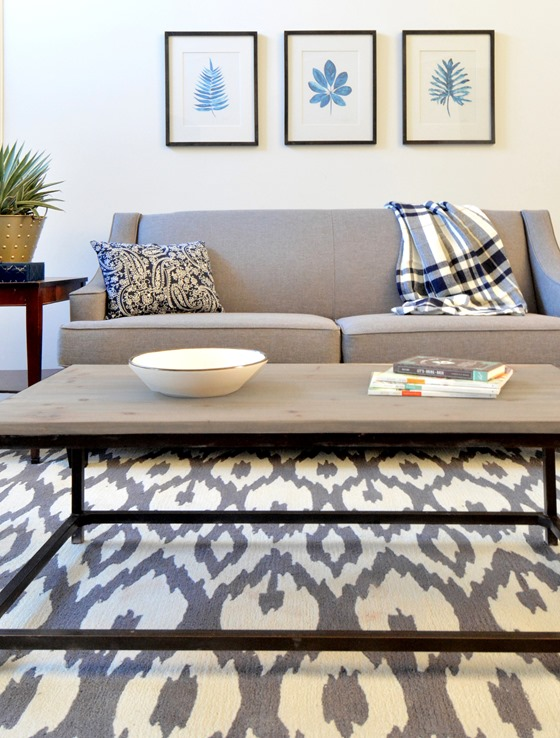 gray cream ikat geometric rug