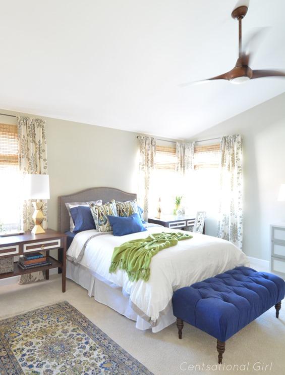 master bedroom koa wood fan