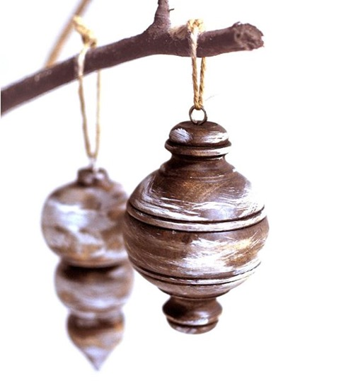 rustic wood ornament