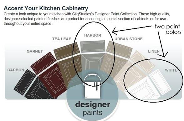 cliq studios painted cabinets