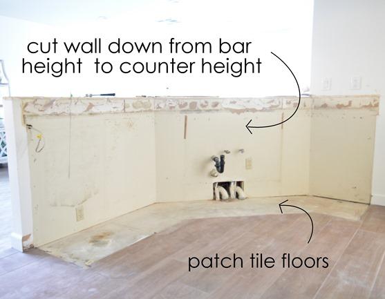 kitchen peninsula no cabinets
