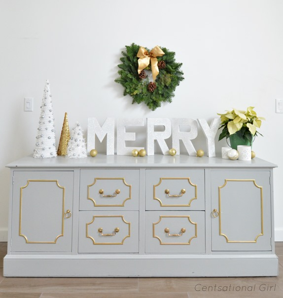 merry letters and trim trees
