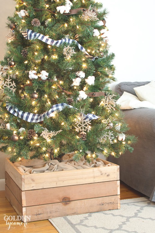 rustic tree box stand