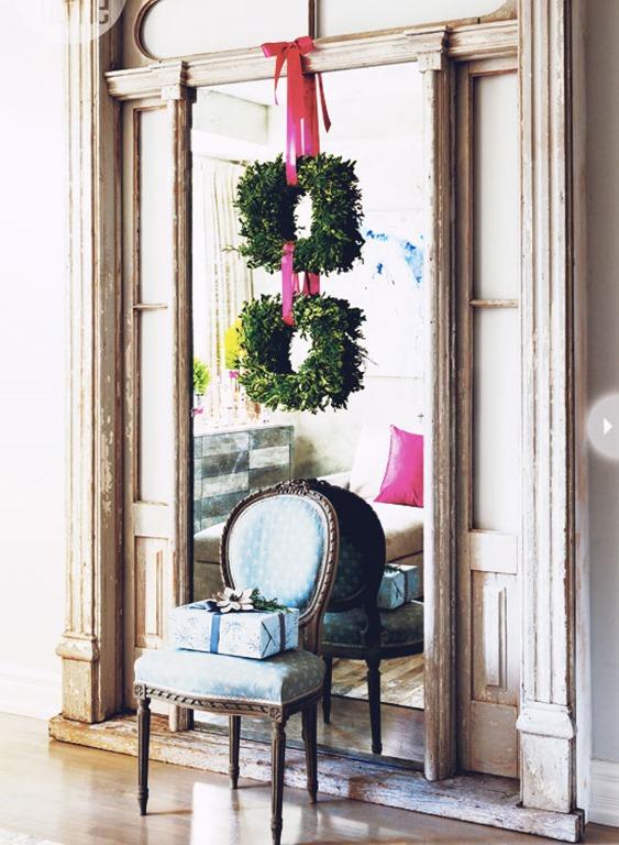 twin boxwood wreaths