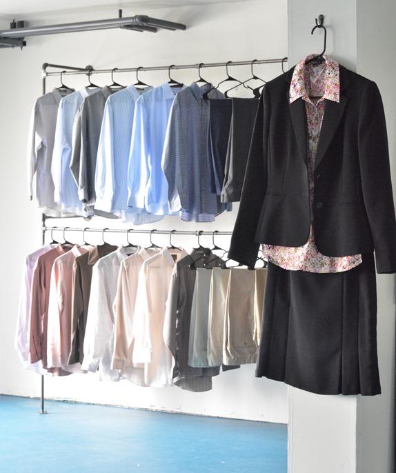 work clothes closet mens side