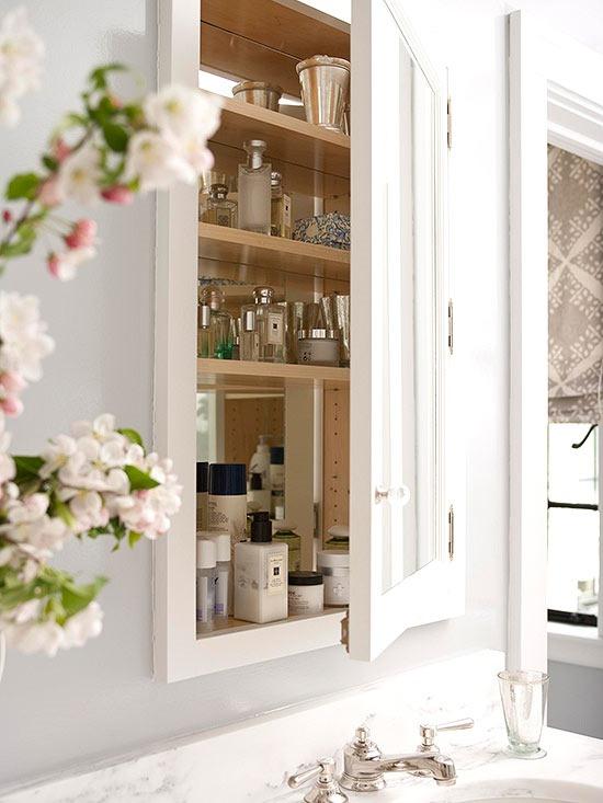 Five ways to update a bathroom centsational girl - Built in medicine cabinets in bathroom ...