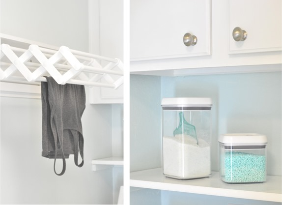 drying rack and storage containers