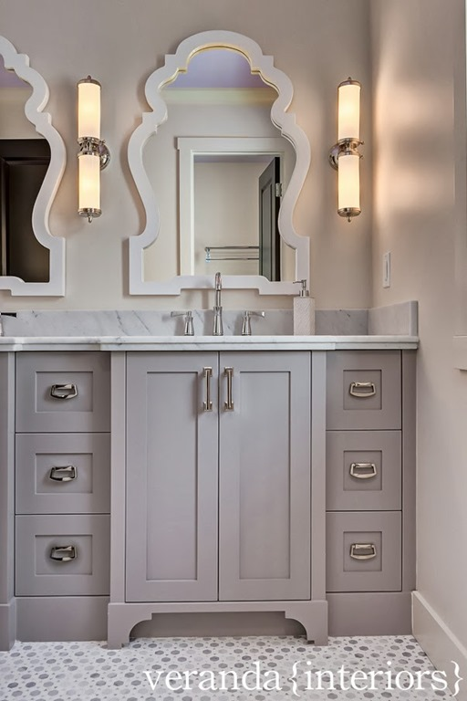 Double Vanities With Towers Center Recent Photos The