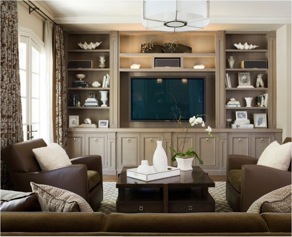 Decorating with monochromatic color centsational style for Neutral tone living room ideas