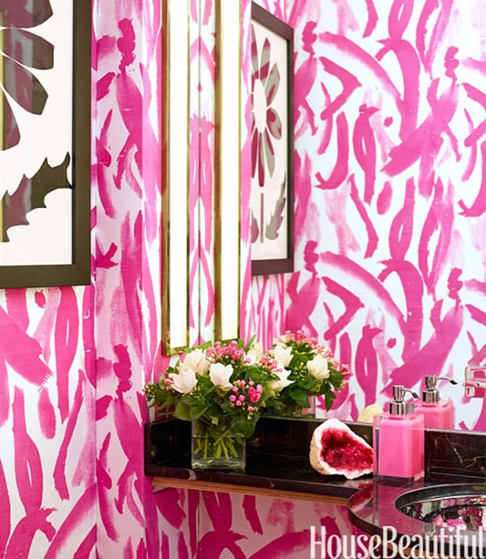 pink brushstrokes house beautiful