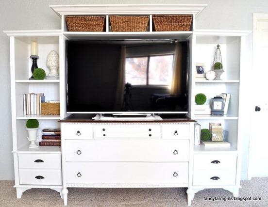 shelf and dresser media center