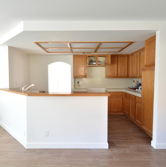 Remodel Woes: Kitchen Ceiling and Cabinet Soffits | Centsational Style
