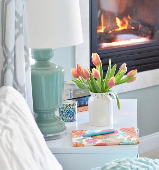 tulips on nightstand