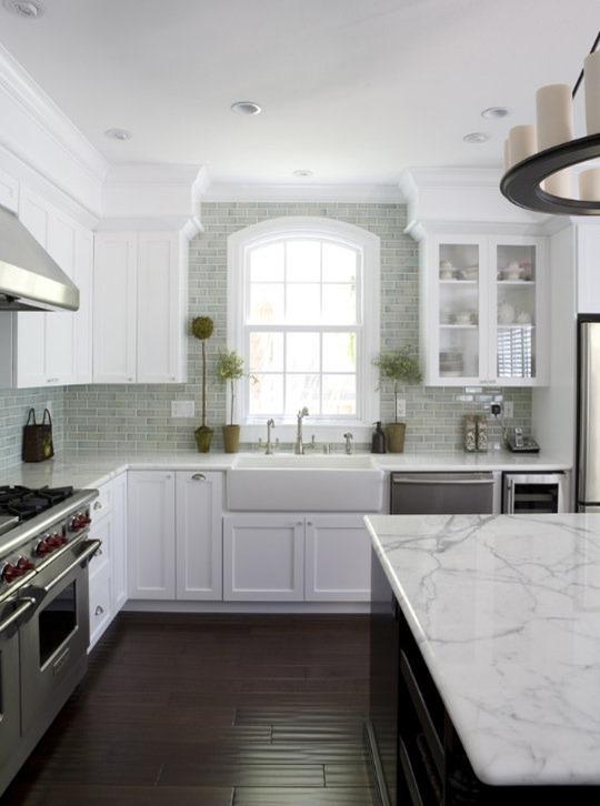... Soffits Above The White Cabinets. White Kitchen Fiorella Design