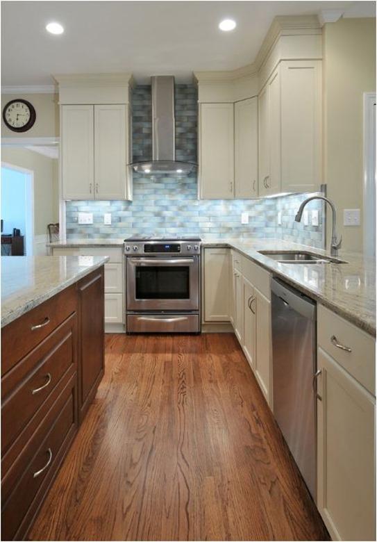 white trim kitchen soffit