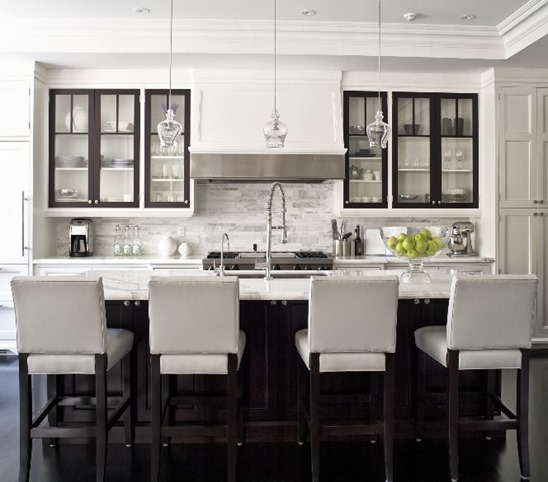 black cabinet doors black and white kitchen