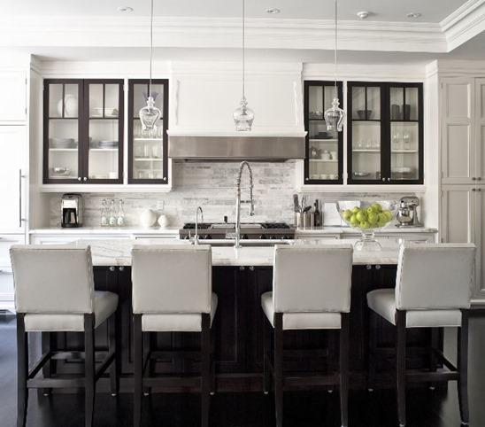 black cabinet doors black and white kitchen