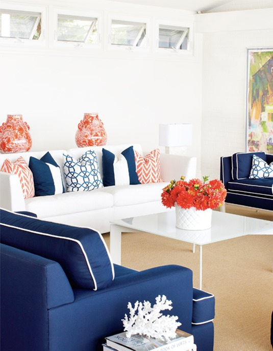 decorating with complementary colors centsational style
