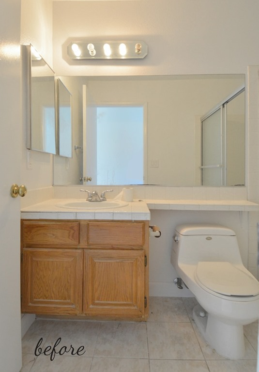 Excellent Bathroom Vanity With Natural Marble Top Faucet And Mirror Included