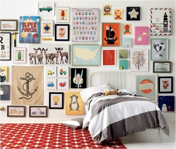 Kids Bedroom Art Wall