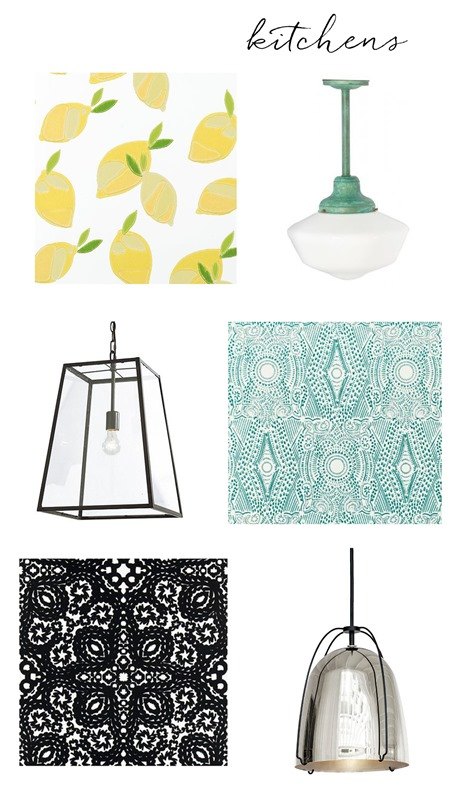 kitchen wallpapers with fixtures