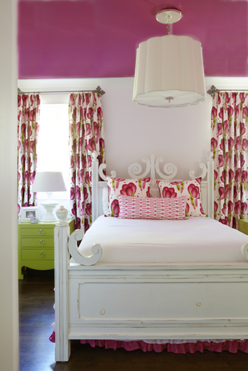 Decorating with complementary colors centsational girl for Pink green bedroom designs