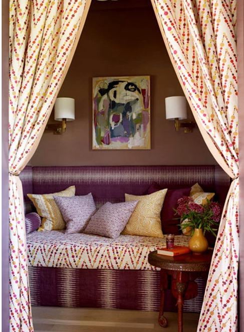 purple yellow fabrics cabana