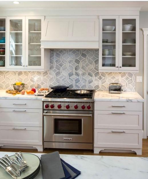 under cabinet hood white kitchen