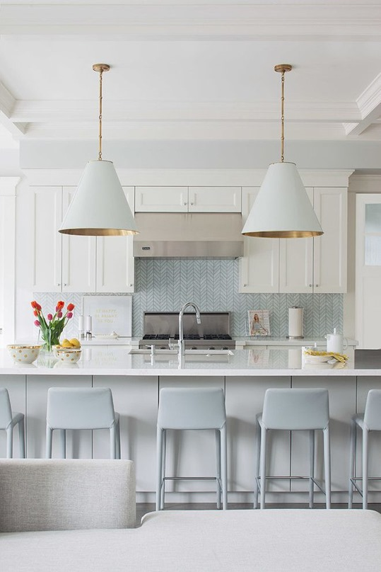 white kitchen exposed range hood